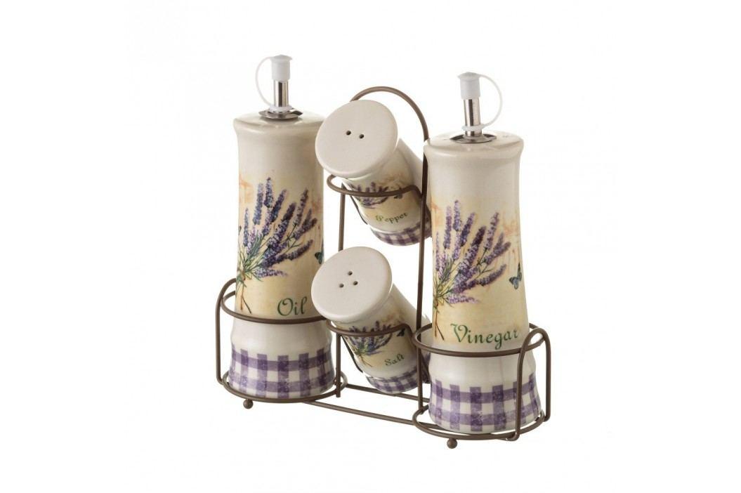 Set din ceramică pentru mirodenii Unimasa Lavender Solnițe și pepernițe