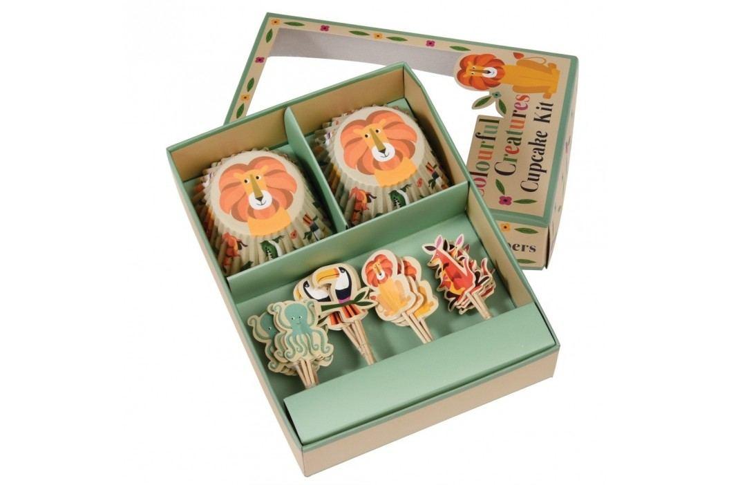 Set pentru ornat brioșe Rex London Colourful Creatures Accesorii pentru gătit și copt