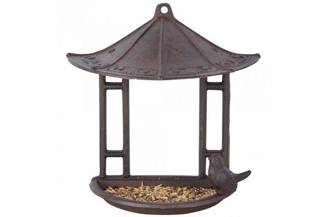 Suport suspendat semicircular pentru hrănit păsări Esschert Design, înălțime 24,4 cm Decorațiuni pentru grădină