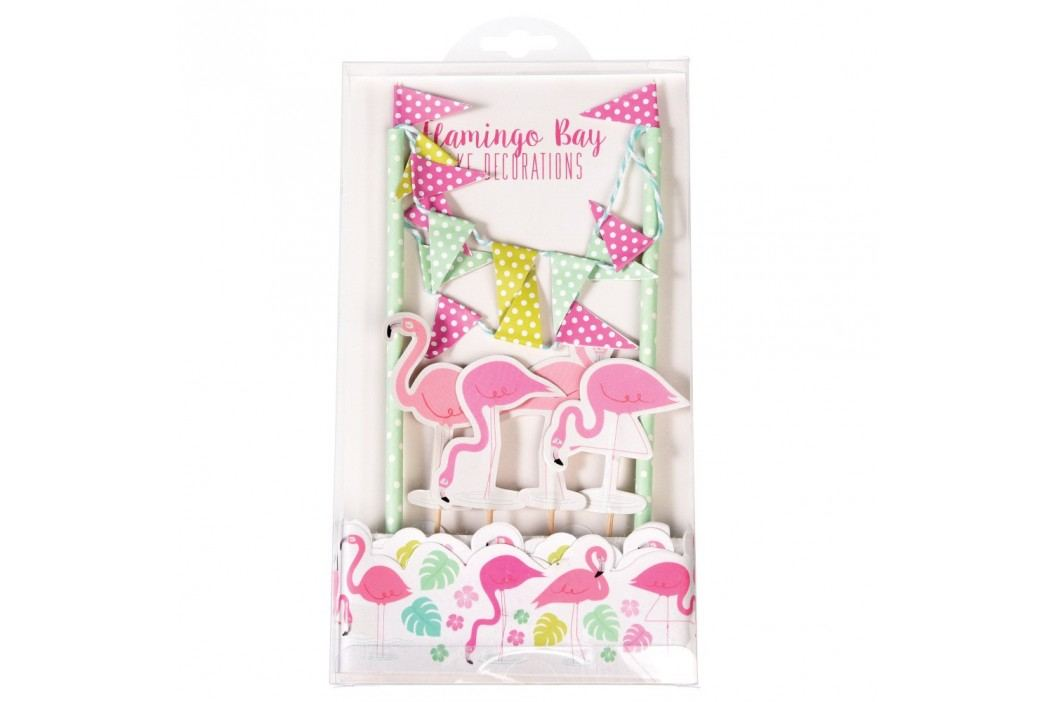 Set pentru decorat tortul Rex London Flamingo Bay