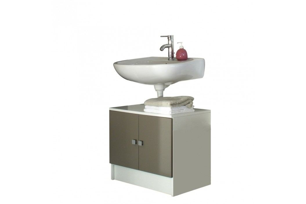 Dulap baie pentru chiuvetă Symbiosis André, gri - maro Dulapuri de baie