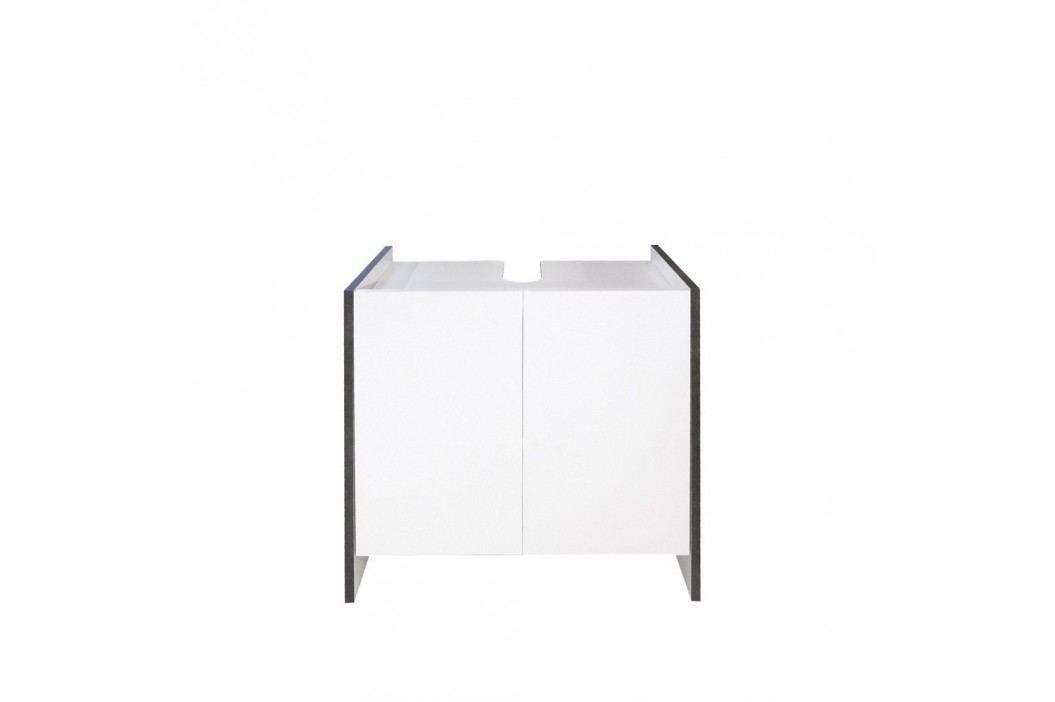 Dulap baie Symbiosis Auben, înălțime59,2cm, alb - gri Dulapuri de baie