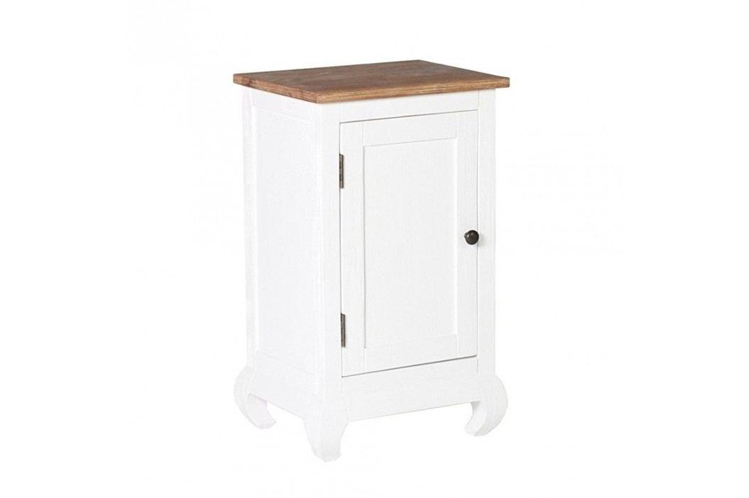 Dulap pentru baie din lemn de salcâm Woodking Kimberly, alb Dulapuri de baie