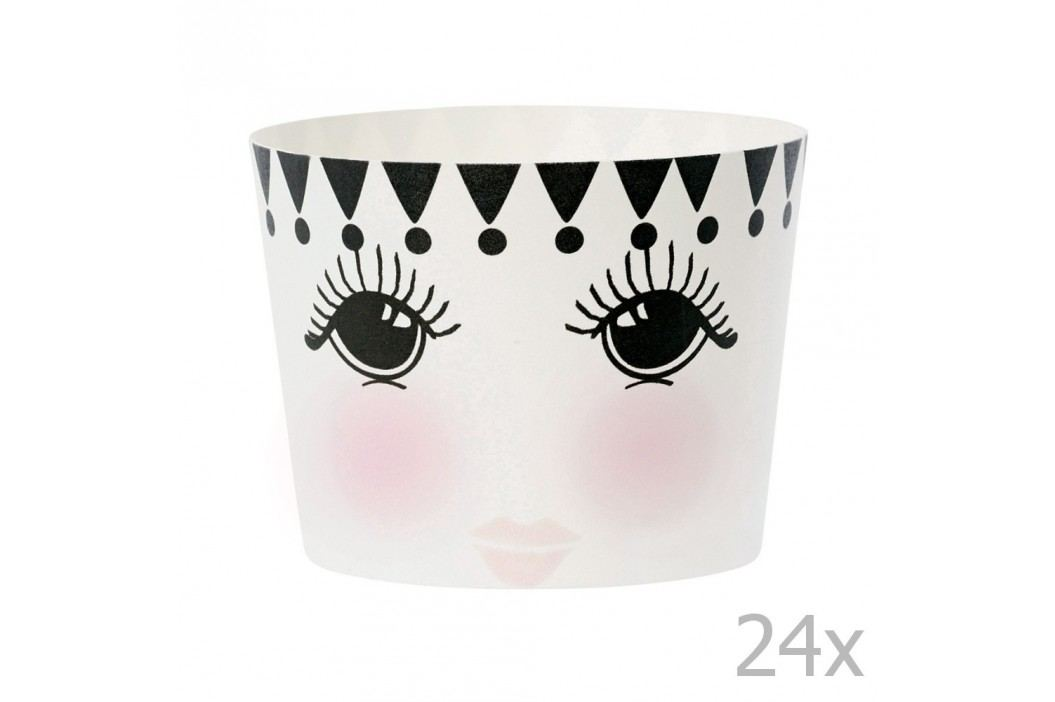 Set 24 coșulețe pentru copt Miss Étoile Eyes And Dots Recipiente și forme de copt