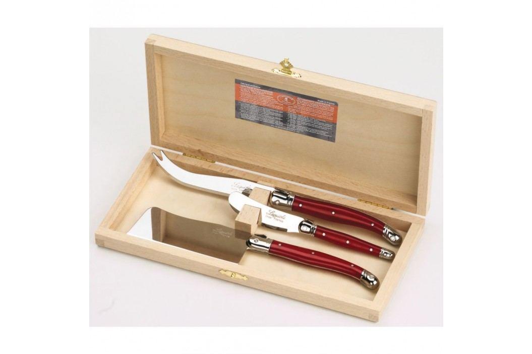 Set 3 tacâmuri pentru brânzeturi, în cutie de lemn, Jean Dubost Accesorii bucătărie