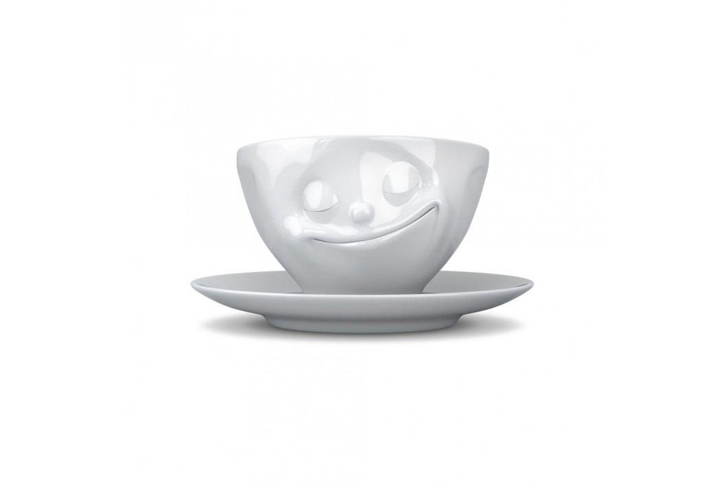 Cană de cafea 58products Zâmbet, alb Căni