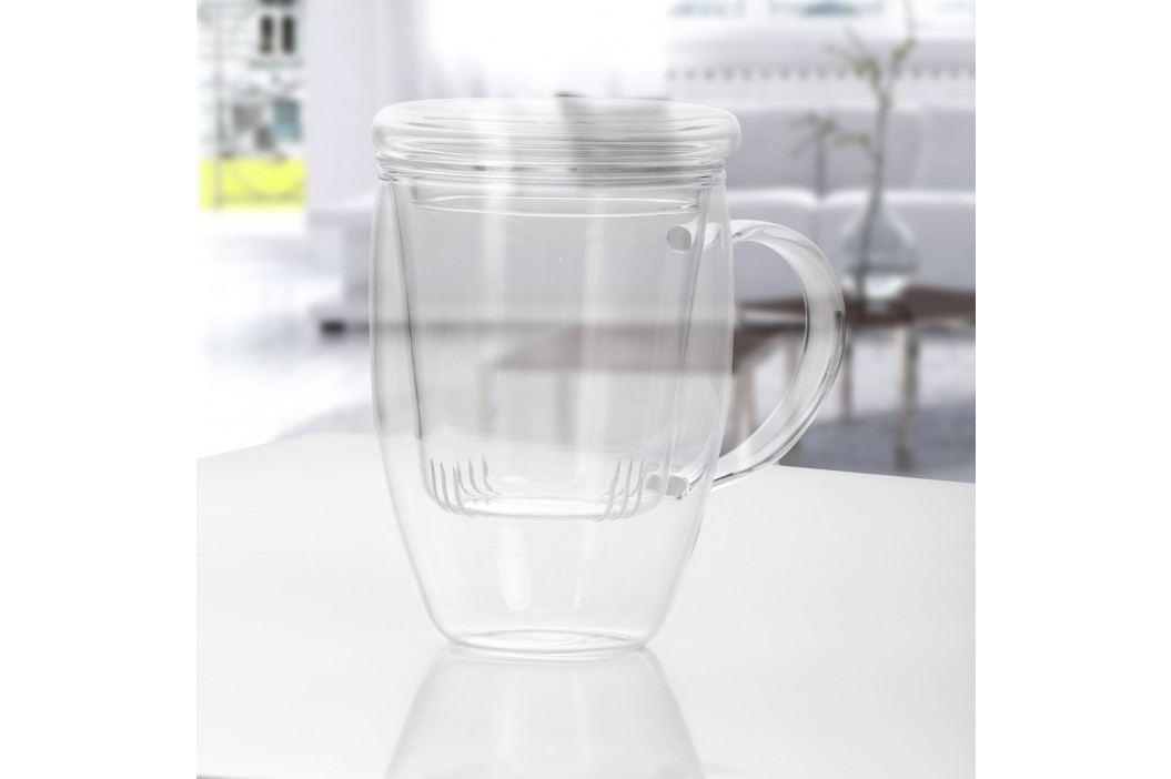 Cană pentru ceai din sticlă cu infuzor și capac Bambum Denisse, 500 ml Ceainice
