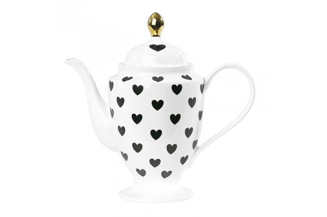 Ceainic ceramică Hearts, 1 l Ceainice