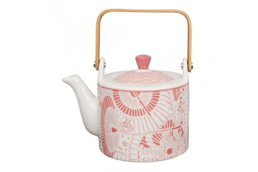 Ceainic din porțelan Tokyo Design Studio Shiki, 800 ml, alb-roșu Ceainice