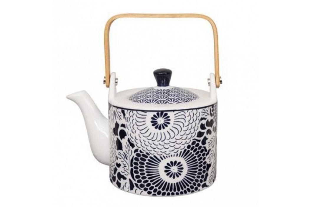 Ceainic din porțelan Tokyo Design Studio Shiki, 800 ml, albastru-alb Ceainice