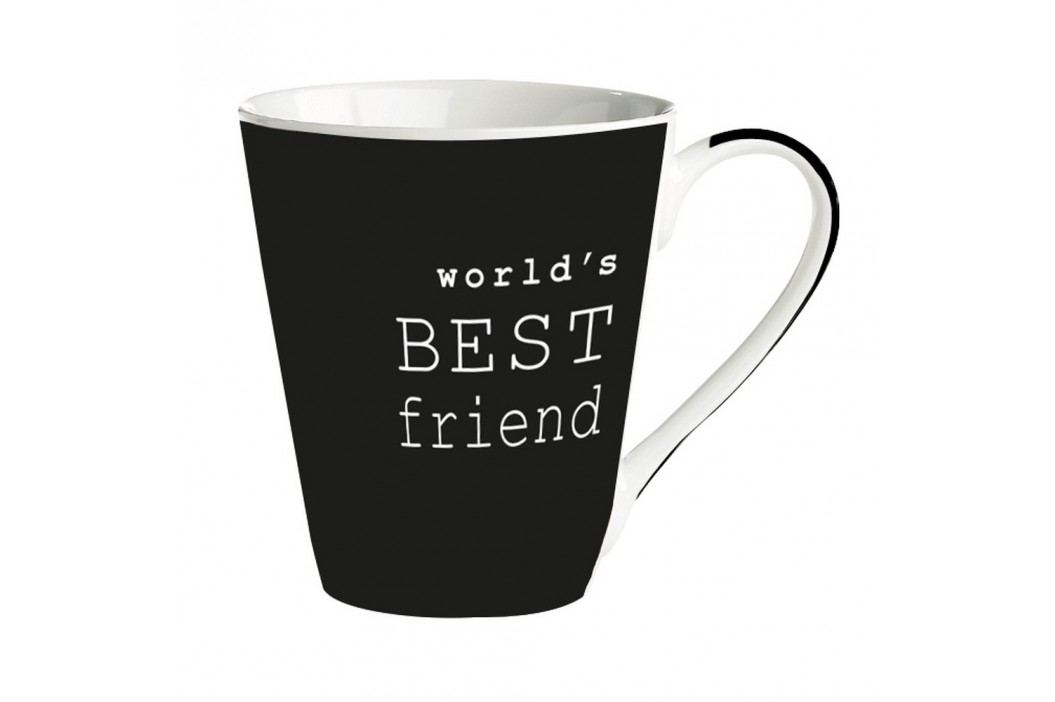 Cană porțelan Galzone World's best friend, negru, 300 ml Căni