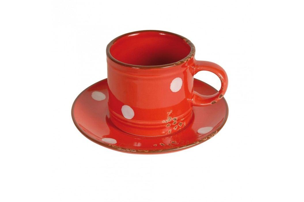 Cană cu farfurie Antic Line Cup Red Căni