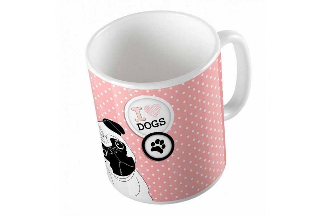 Cană din ceramică Butter Kings Pug In Dots, 330 ml Căni