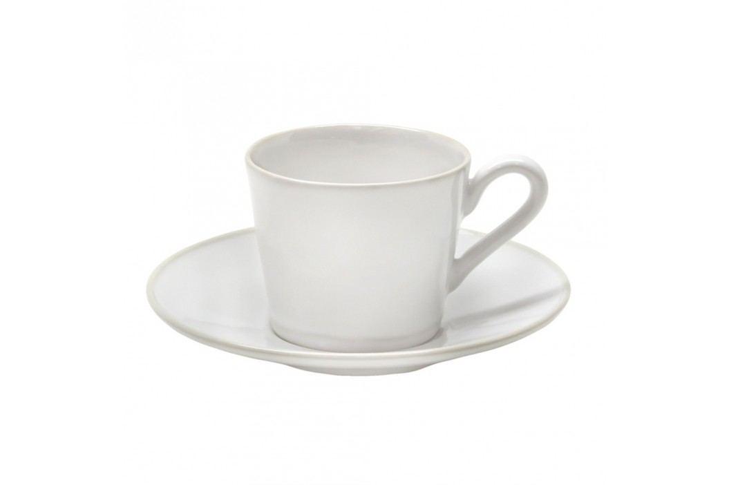 Cană din ceramică cu farfurioară Costa Nova Astoria, 180 ml, alb Căni