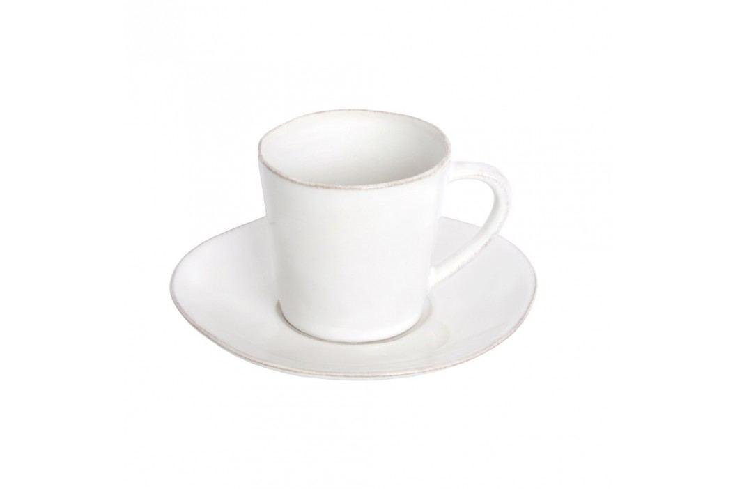 Ceașcă din ceramică cu farfurioară Ego Dekor Nova, 190 ml, alb Căni