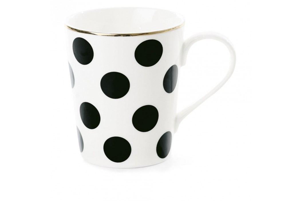 Cană din ceramică Miss Étoile CoffeeBig Black Dots, Ø 8 cm Căni