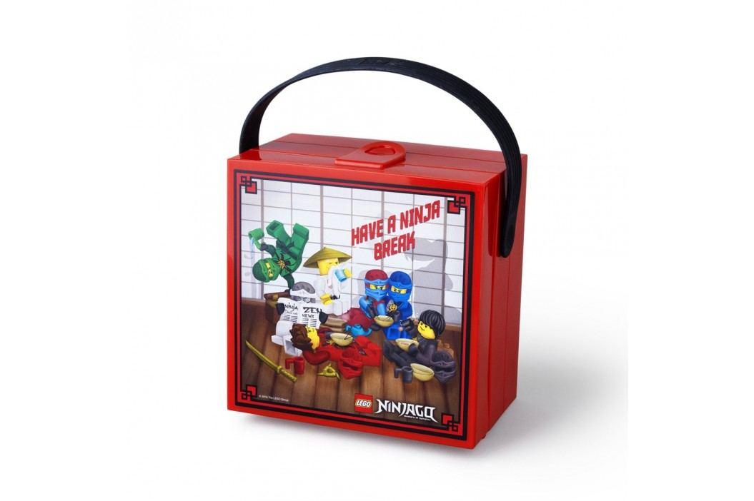 Cutie depozitare cu mâner LEGO® Ninjago, roșu Doze, cutii, coșulețe
