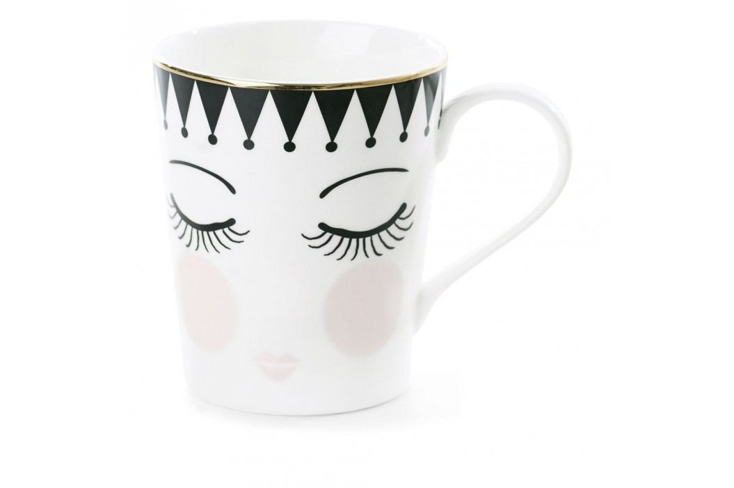 Cană din ceramică Miss Étoile Coffee Eyes and Dots, Ø 8 cm Căni