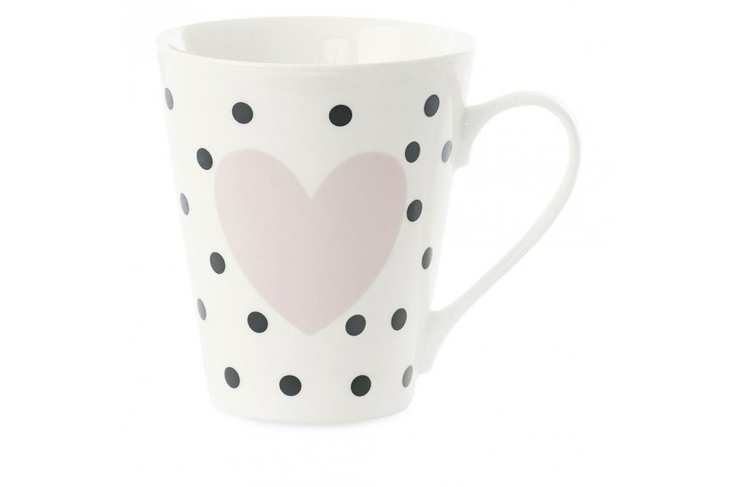Cană din porțelan Miss Étoile Coffee Black Dots and Rose Heart Căni