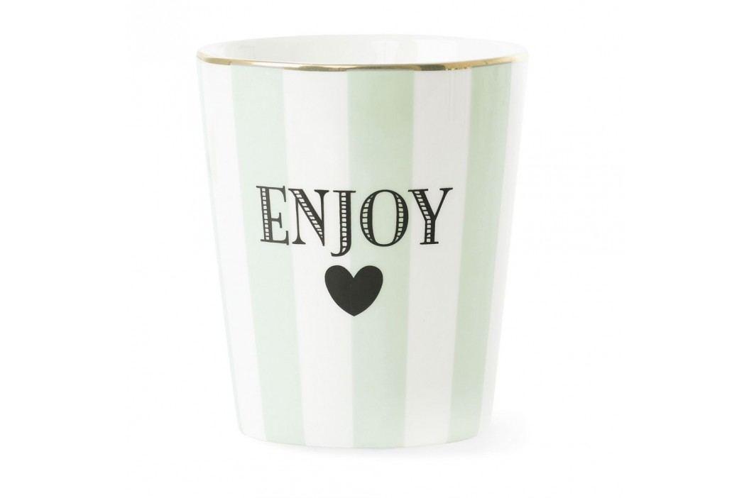 Cană din ceramică Miss Étoile Stripe Aqua Green Căni