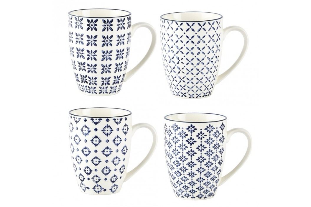 Set 4 căni Villa Collection Pattern Classic, 350 ml Căni