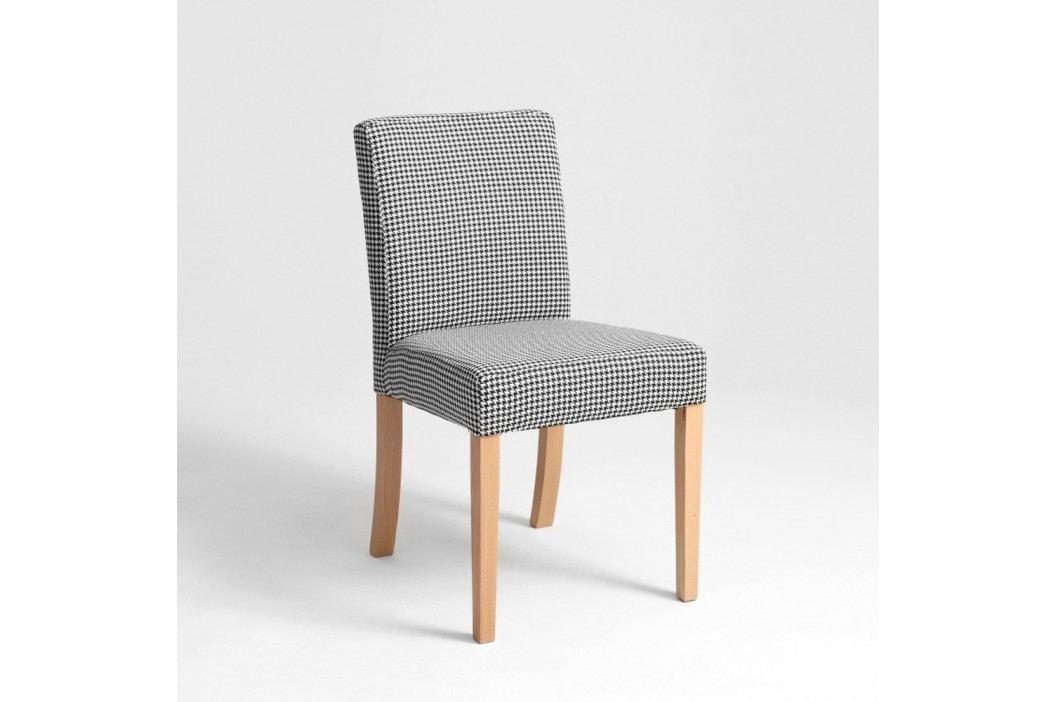 Scaun cu picioare de culoare naturală, Custom Form Wilton, negru - alb Scaune sufragerie