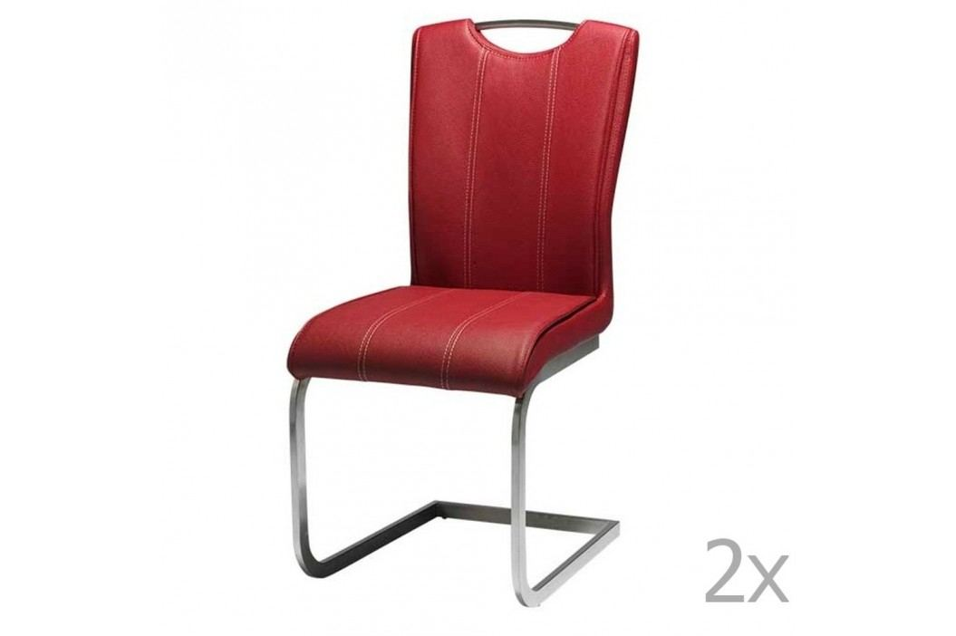 Set 2 scaune Knuds Lazio, roșu Scaune sufragerie