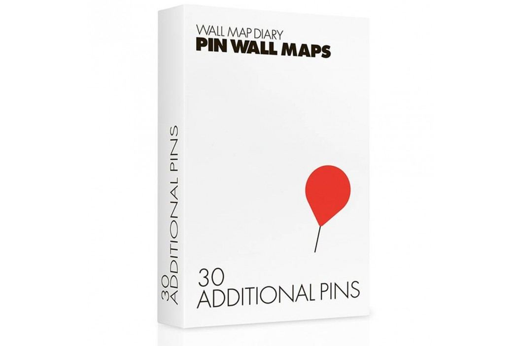 Pioneze suplimentare pentru hărțile Pin World, 30 buc. Cadouri