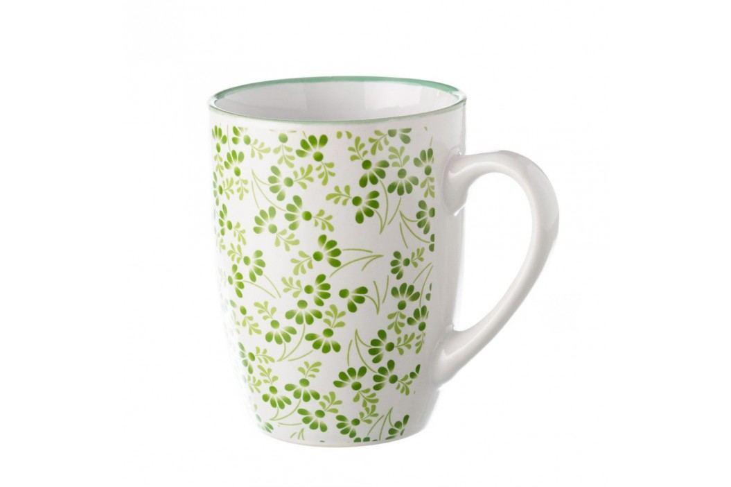 Cană Unimasa Meadow, verde-alb Căni