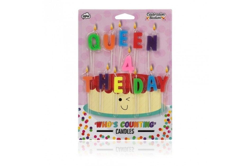Set 12 lumânări pentru tort NPW Queen For The Day Cadouri