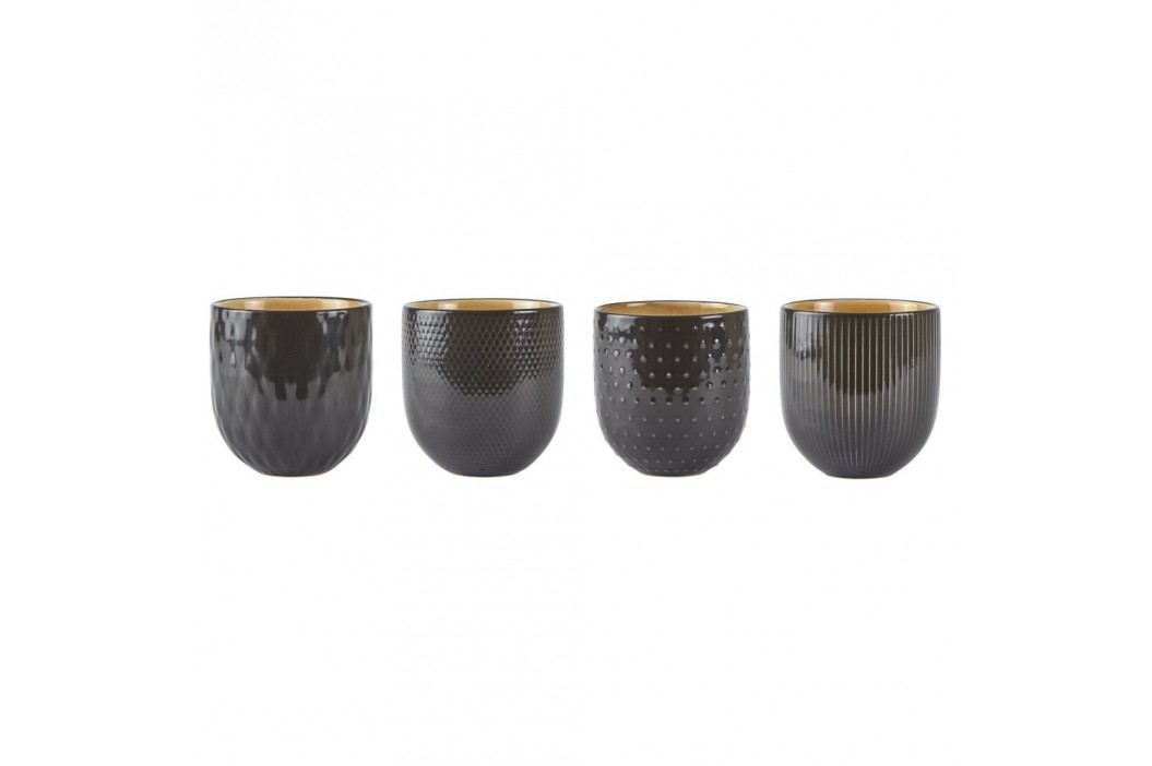 Set 4 căni, gresie ceramică, Villa Collection Tribe, 400 ml Căni