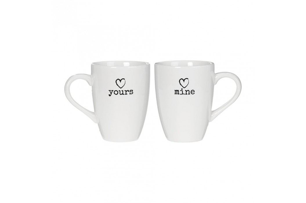 Set 2 căni Yours & Mine Premier Housewares Charm, alb