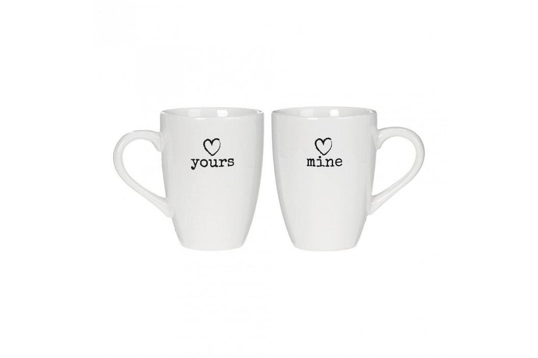 Set 2 căni Yours & Mine Premier Housewares Charm, alb Căni