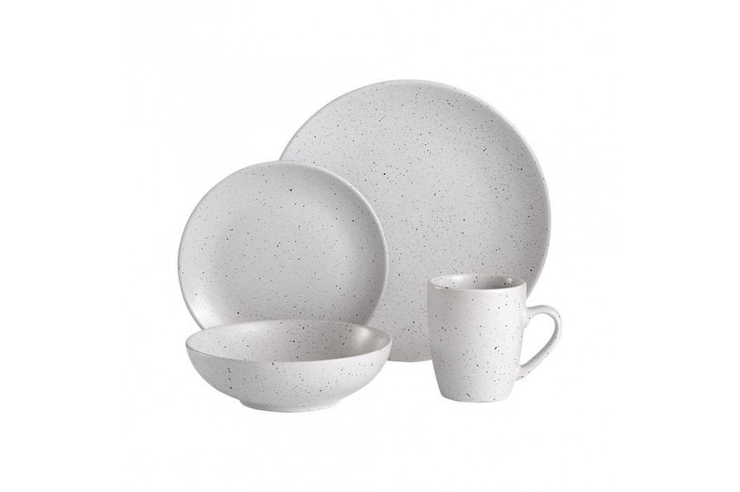 Serviciu de masă din ceramică Ladelle Speckle, 16 buc., alb Căni