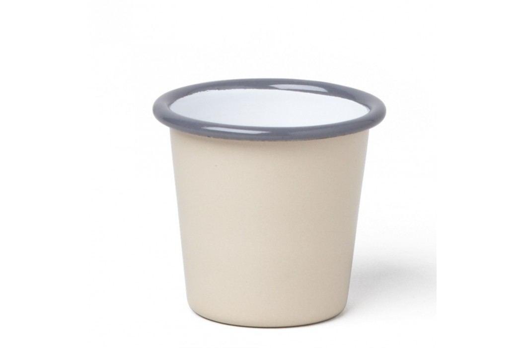 Pahar smălțuit Falcon Enamelware, 124 ml, bej-gri Căni