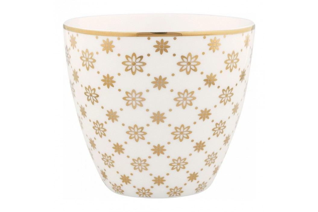 Pahar din ceramică Green Gate Laurie Latté, auriu-alb Căni
