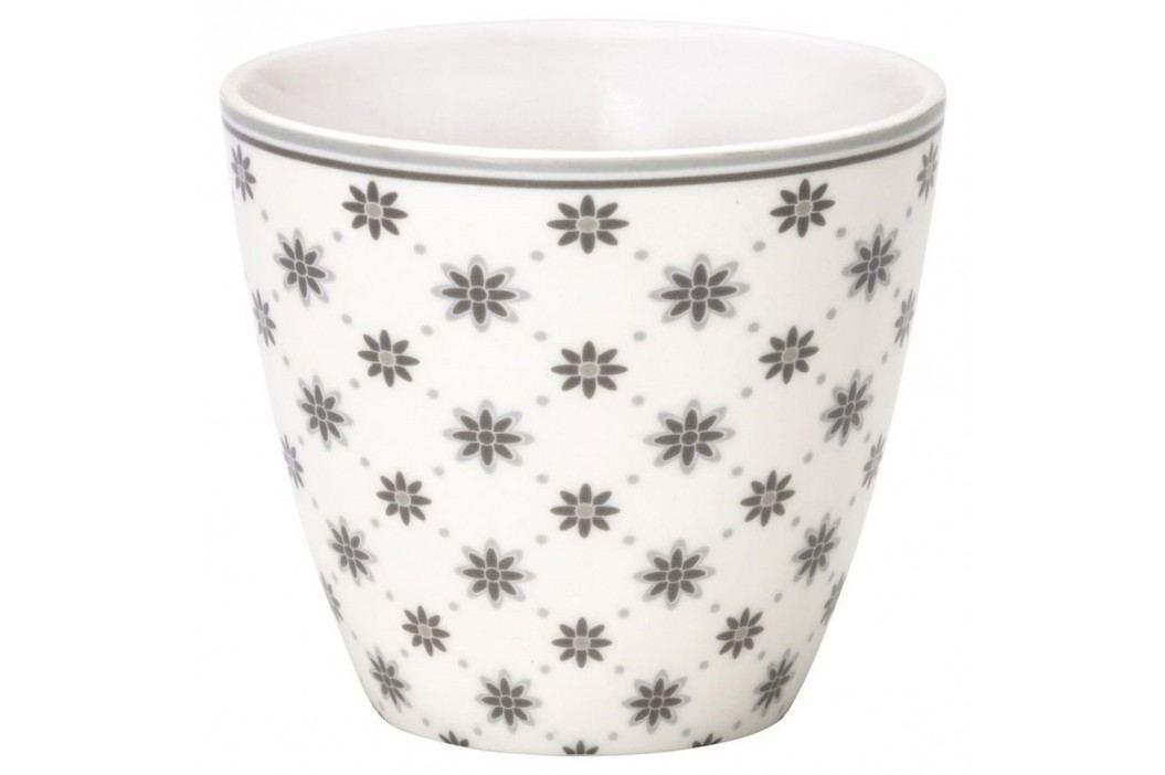 Pahar din ceramică Green Gate Laurie Latté, gri-alb Căni