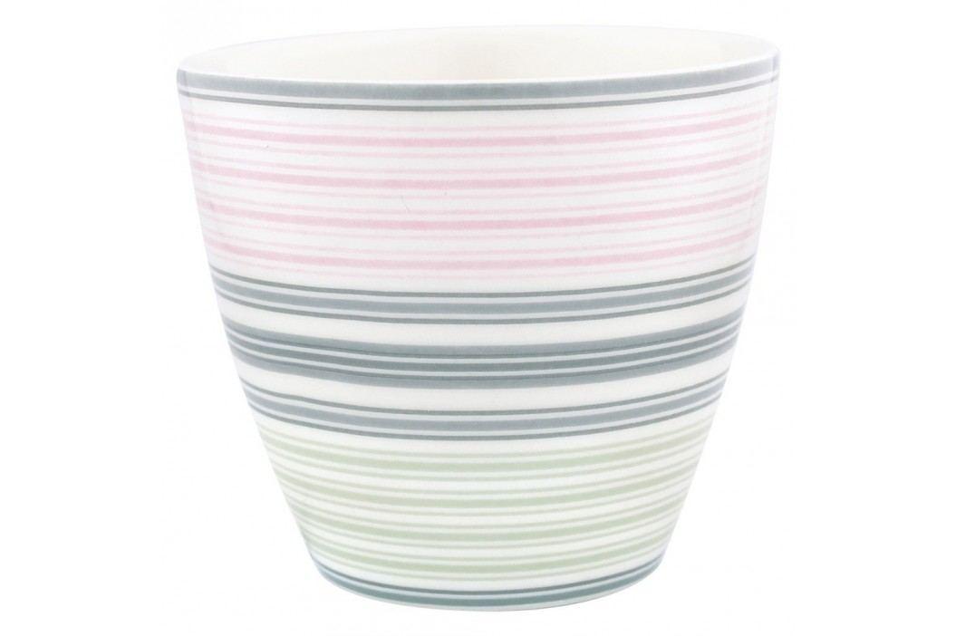 Pahar din ceramică Green Gate Mabel Latté, gri-roz Căni
