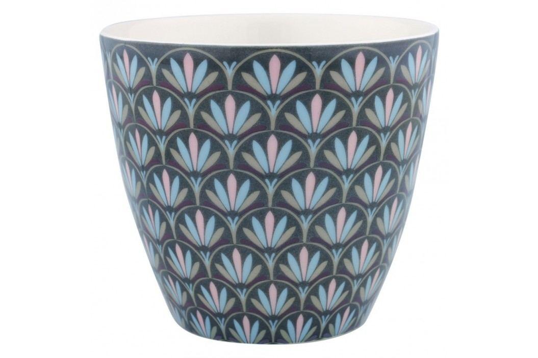 Pahar din ceramică Green Gate Victorie Latté, gri-alb Căni