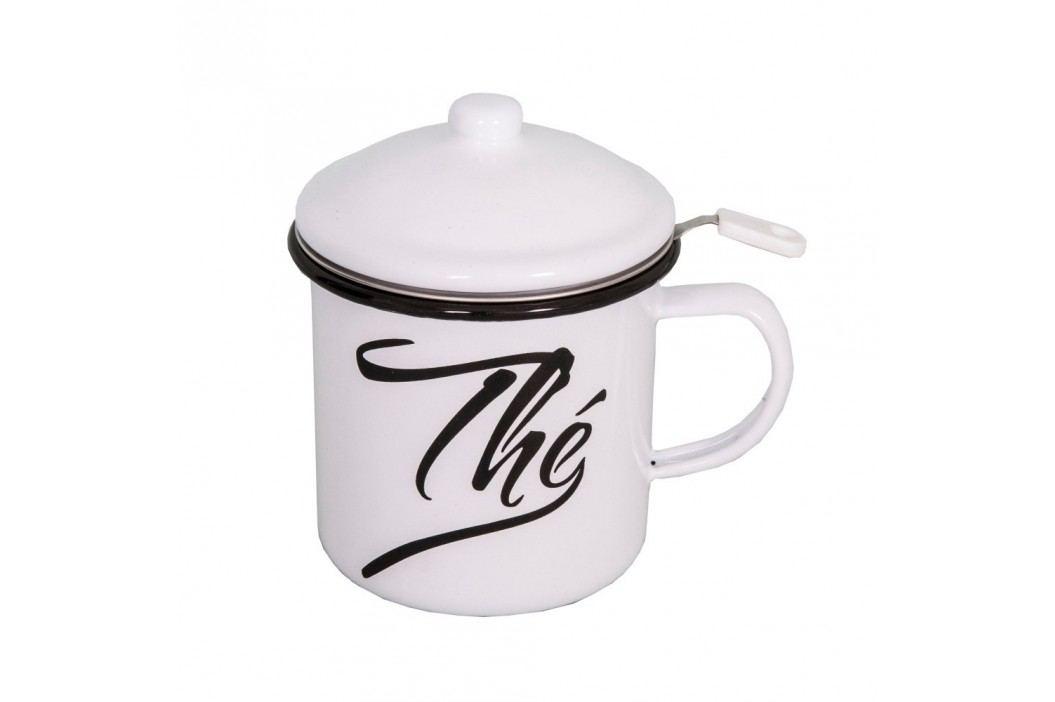 Cană smălțuită cu capac și sită pentru ceai Antic Line Căni