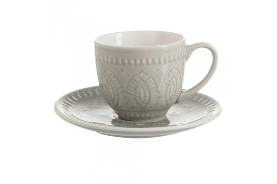 Ceașcă cu farfurie din ceramică J-Line Anitta Căni