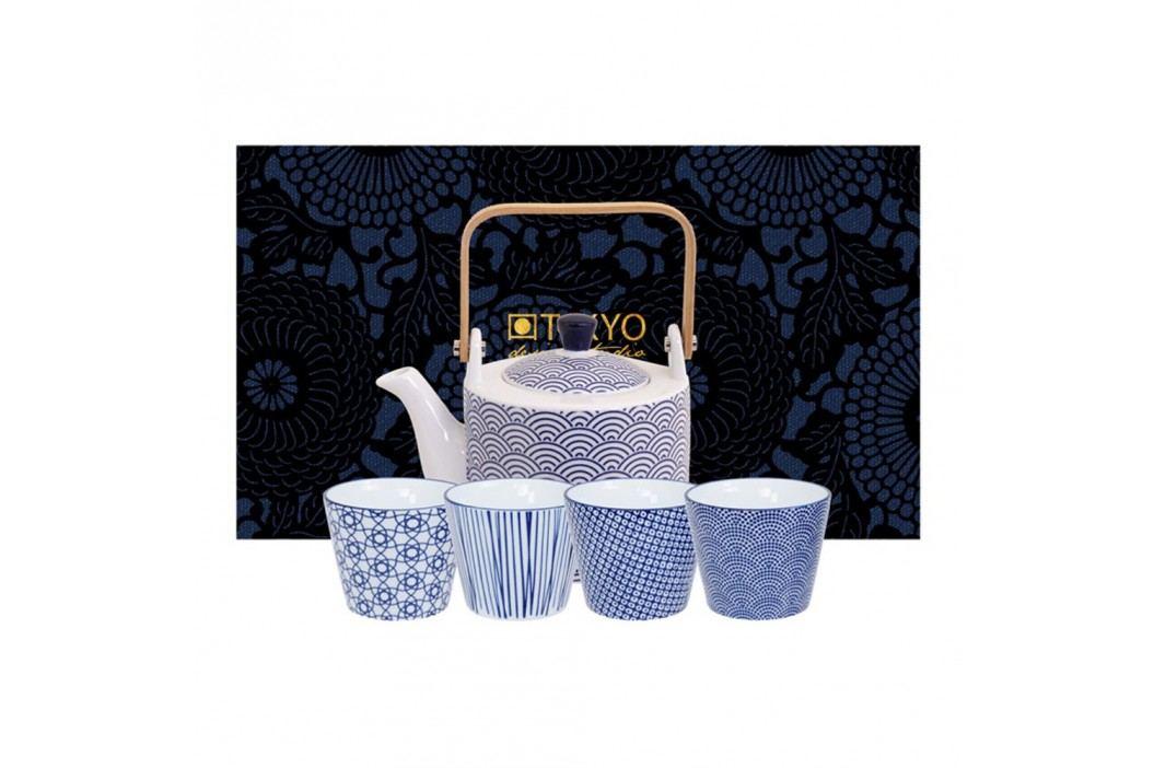 Set ceainic și cești Tokyo Design Studio Wave Căni