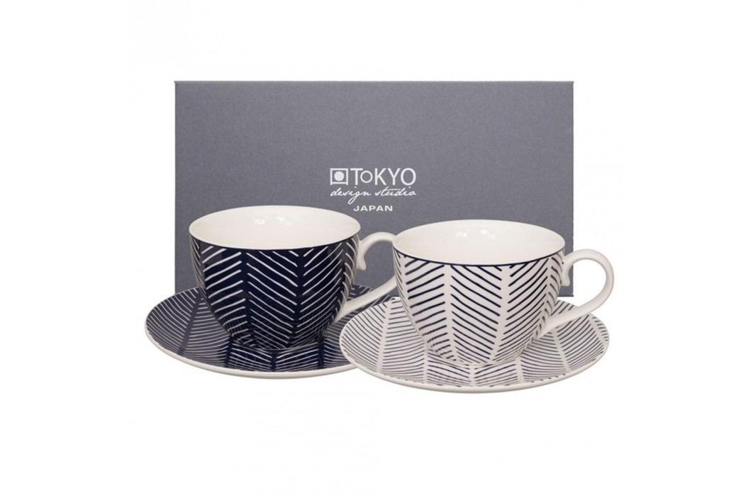 Set 2 căni cu farfurie Tokyo Design Studio Yoko Yoki Căni