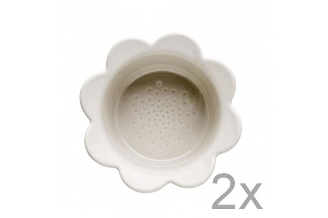 Set 2 castroane cu flori Sagaform Piccadilly, 13 x 6,5 cm, bej Castroane și boluri