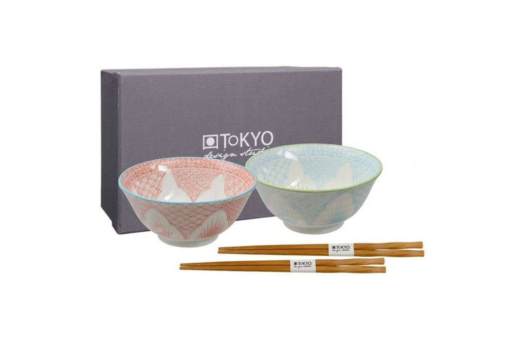 Set 2 boluri din porțelan Tokyo Design Studio Yoko Yoki Castroane și boluri