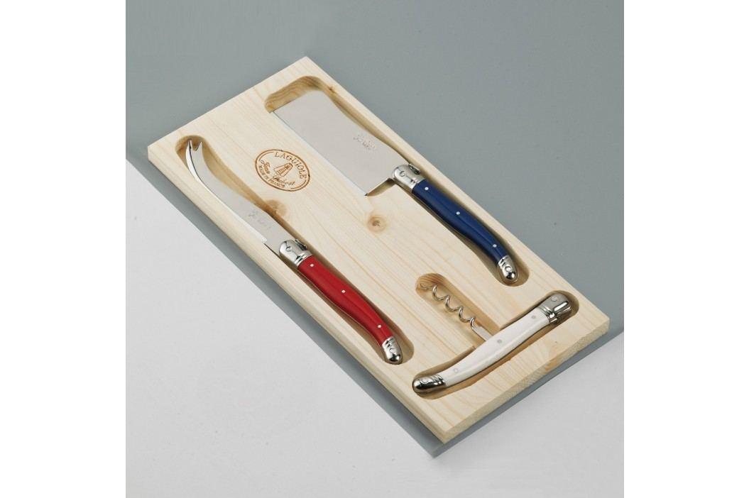 Set 3 tacâmuri pentru brânzeturi, în cutie de lemn, Jean Dubost Paris Cuțite