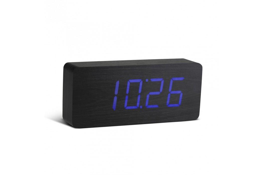 Ceas deșteptător cu LED Gingko Slab Click Clock, negru - albastru Ceasuri și alarme