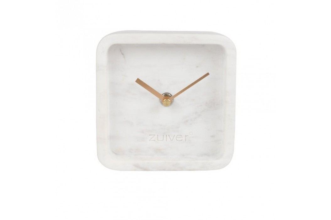 Ceas de perete din marmură Zuiver Luxury Time, alb Ceasuri și alarme