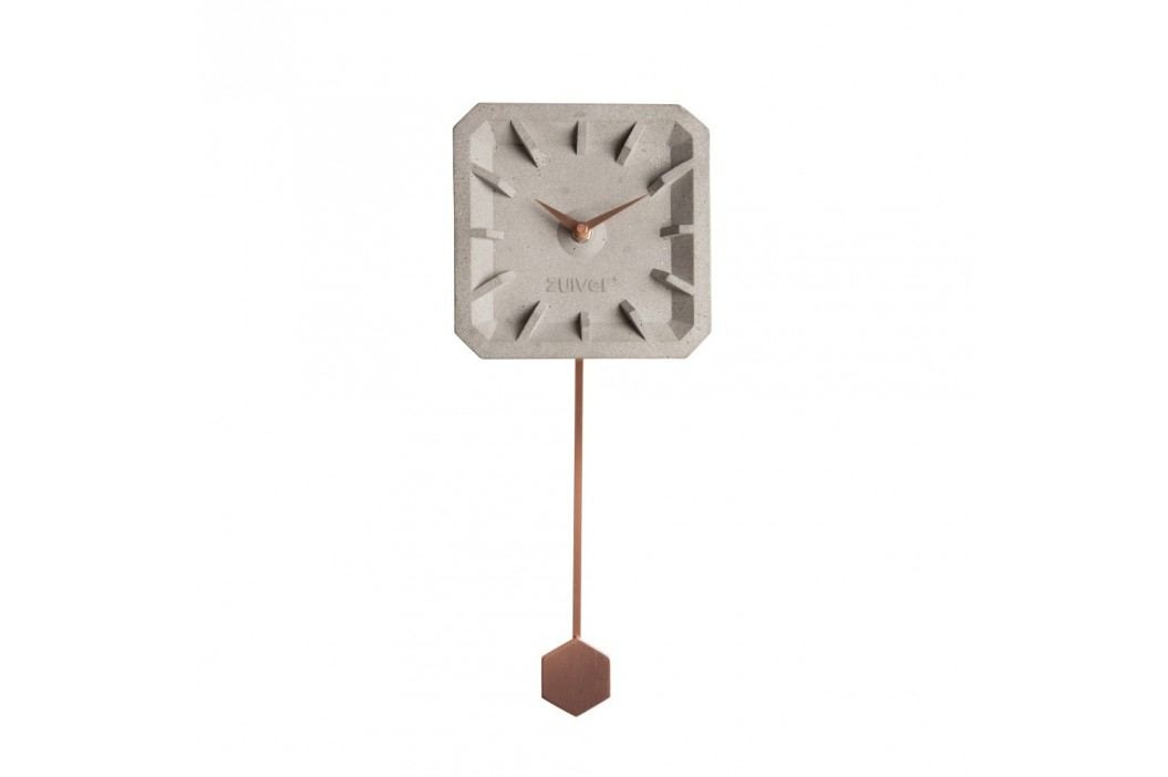 Ceas de perete din beton cu detalii arămii Zuiver Tiktak Ceasuri și alarme
