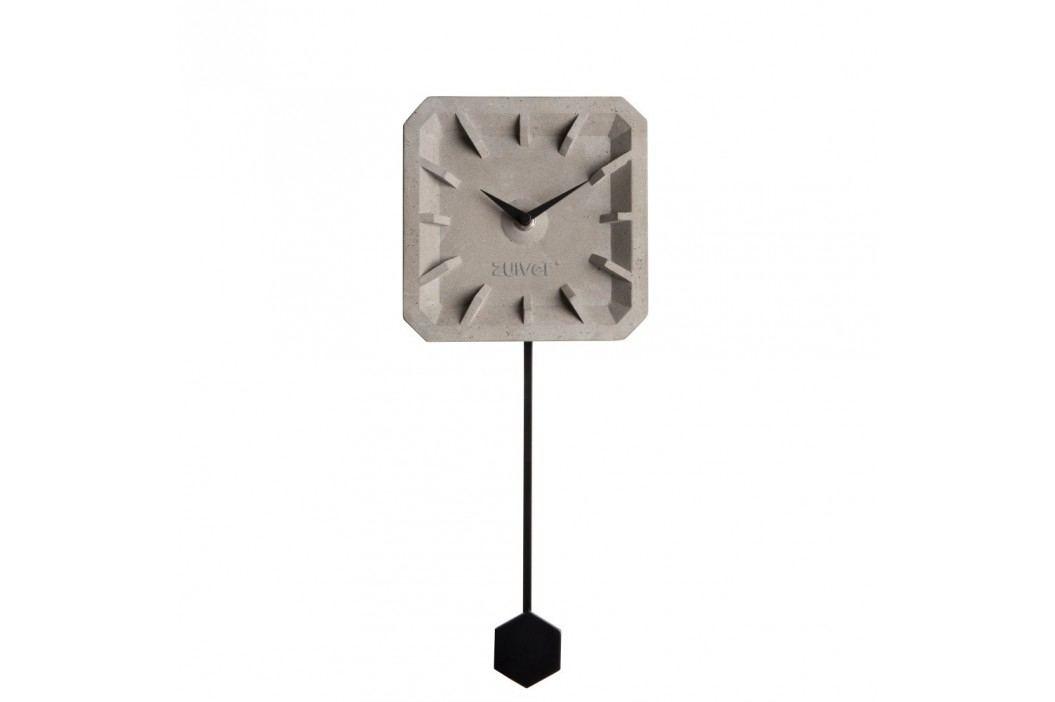 Ceas de perete din beton cu detalii negre Zuiver Tiktak Ceasuri și alarme